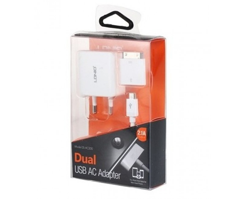 LDNIO AC Adapter with USB Slot 2.4A DL-AC 200